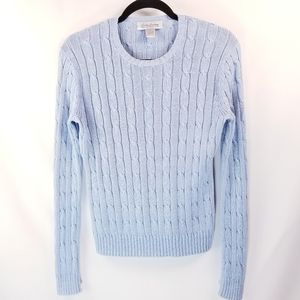 Brooks Brothers 100% Cotton Cable Knit Sweater S